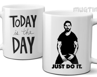 Shia Lebouf JUST DO IT flask Decal Real Wood Decal Wooden Sticker Laser Etched Decal//Phone Decal