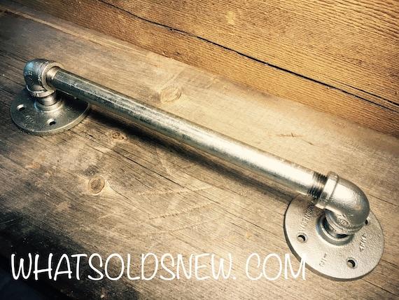 Industrial Pipe Door Handle | Barn Door Handle | Pipe Door Handle | Industrial Decor | SteamPunk Draw pull l Rustic Décor Country Home Decor