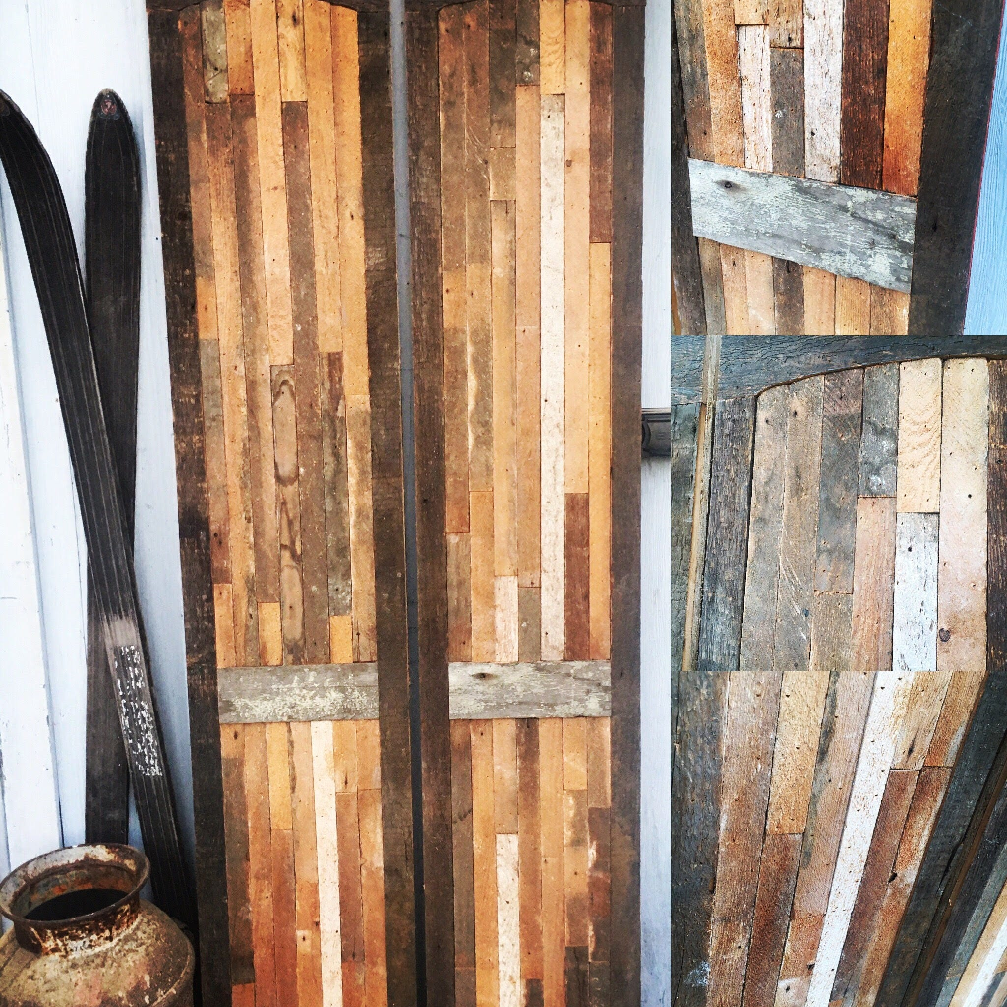 Repurposed Home Decor: Architectural Salvage Barn Door/Industrial/Antique/Door