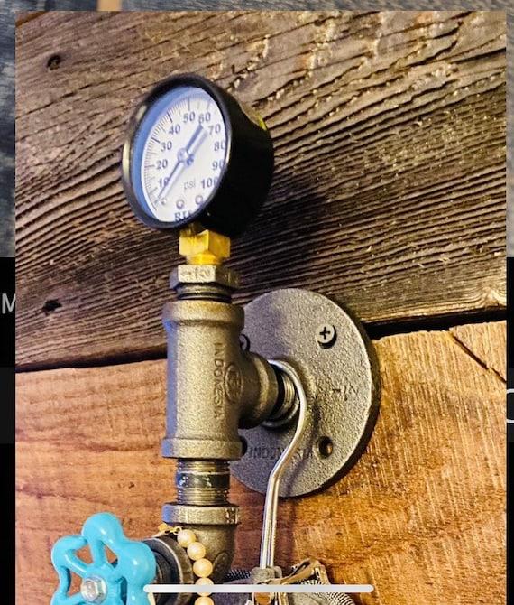 Industrial Pipe Wall Hook  Interior Decor Bathroom Decor  Steampunk Decor  Wall Hook  Hat Rack  Coat Hanger Country Home Decor