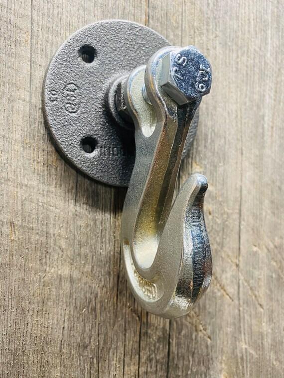 Rustic Industrial Clevis Wall Hook-Interior Design-Bathroom Decor-Steampunk-Wall Hook-Rack-Coat-Vintage-Country Home Decor-Barn Door Handle