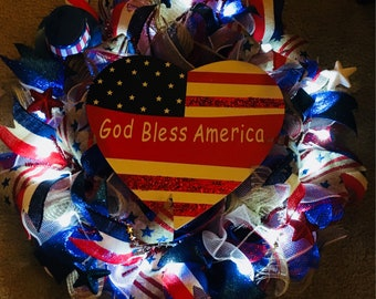 4th of July/ Independence Day Wreath