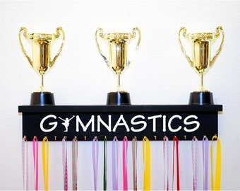 Gymnastics Trophy Shelf Available in Multiple Colors, Gymnastics Trophy Shelf and Medal Holder, Gymanstics Medal Holder, Gift For Gymnast