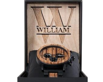 Groomsmen Gift Box - Groomsmen Custom Wood Watches - Groomsmen Gift Set - Wood Watches for Men - Custom watch for Husband