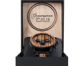Best Groomsmen Gift Wood Watches - Engraved Watch for Fathers Day - Engraved Wood Watch - Personalized Watch - Wood Watch for Him