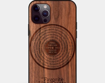 Custom iPhone Cases For Musicians - Vinyl Record Design w/ Your Music Personalized Gift For Vinyl Record Lover - Vinyl Record iPhone cases