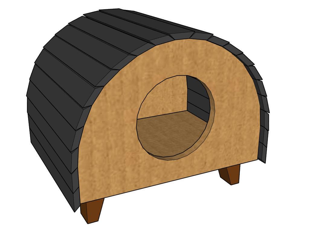Cat House - Woodworking Plans & Cut List (Digital File)
