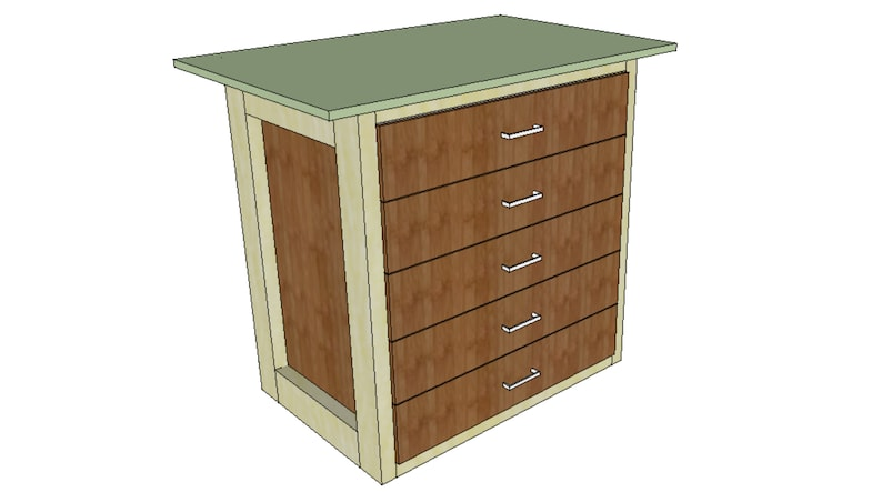 Workbench With Drawers  Woodworking Plans & Cut List Digital image 0