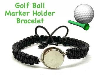 Golf Bracelet, Ball Mark Holder, Magnetic Bracelet, Nylon Braided Charm Bracelet, Ball Marker HOLDER Bracelet, Magnetic Golf Bracelet