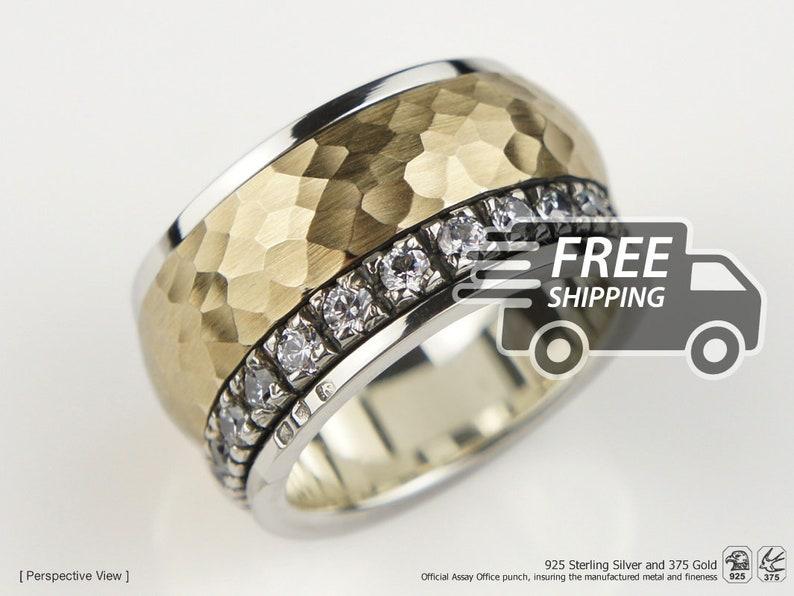 cf1b184fc721 Girando la ruleta anillo Anti estrés del anillo plata de ley