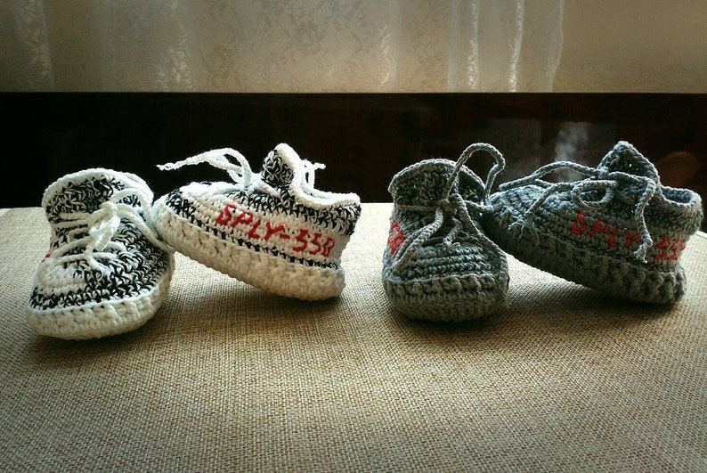 the latest 5290e 55523 2 pairs Crochet baby yeezy shoes, inspired by Yeezy boost 350 Zebra and  Beluga 2.0, Free shipping with DHL express