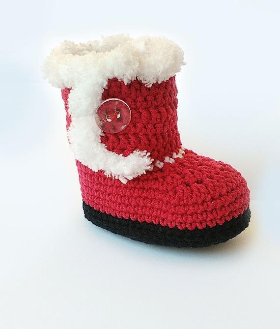 Bambino Di Natale Alluncinetto Stivali Di Babbo Natale Etsy