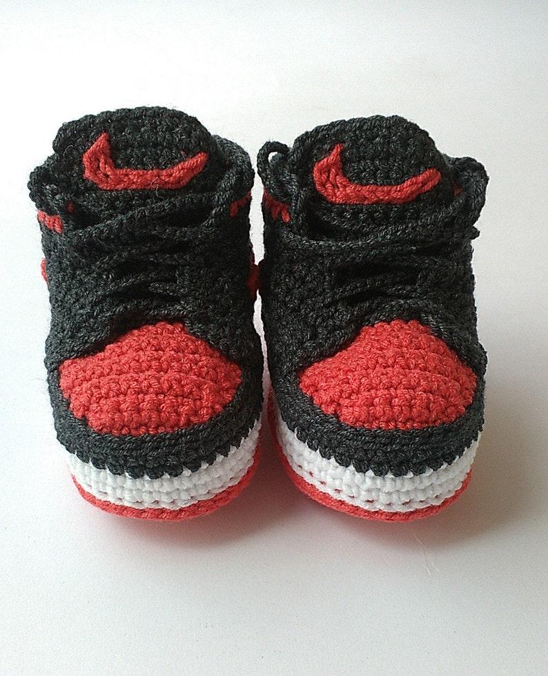 6628612ac089 Crochet baby Nike booty Nike Air Jordan baby shoes Crochet