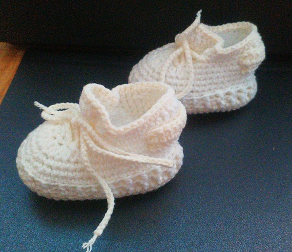 size 40 d9223 fd549 Crochet baby shoes, Inspired by new yeezy butter, Yeezy boost 350 V2  Butter, Crochet Yeezy, Cream white baby shoes