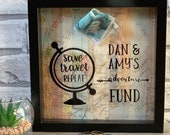 Personalised Travel Moneybox Frame - Savings - Adventure Fund