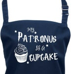 My Patronus is a Cupcake!  Apron with Pocket  23 Colours to Choose From (Ref: 1196)