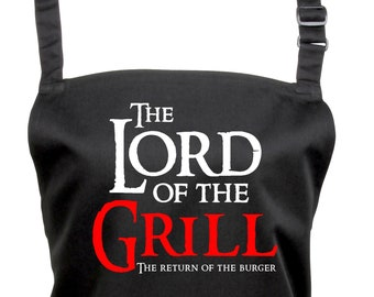 Fun Lord of the Grill Apron for Wizarding Fans With choice of Subtext       (Ref: 1290)