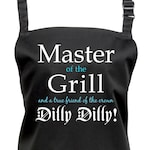 Mens Dilly Dilly Master of the Grill Apron.  7 Colours. (Ref: 1184)
