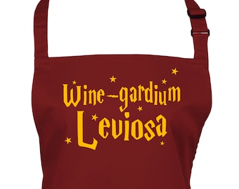 Funny Wine Spell Apron for Wizards in a Choice of 22 Apron Colours        (Ref: 1304)