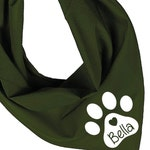 Personalized Dog Bandana. 15 Colours to Choose From. (Ref 1062)