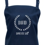 Personalized Domestic God Apron. Choice of 23 Colours  (Ref1033)