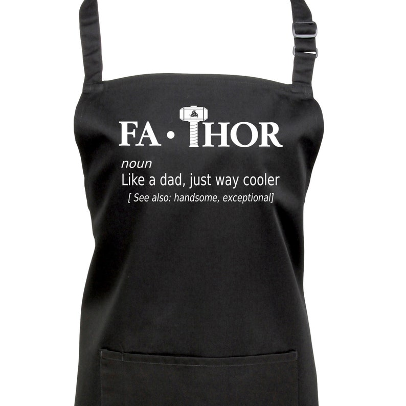 Fa-Thor Dad Fathers Apron. 23 Colours to Choose From.FR 1209 image 0