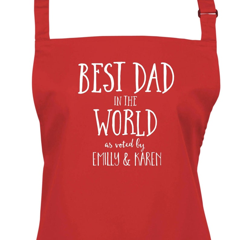 Personalised Best Dad in the World Apron. 23 Colours Large image 0