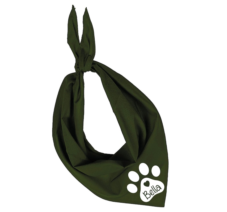 Personalized Dog Bandana. 15 Colours to Choose From. Ref image 0