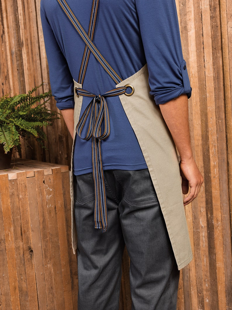 Cross back interchangeable apron straps For Dungaree Style Bib image 0