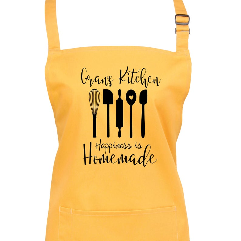 Personalised Happiness is Home Made Apron 23 Colours Large image 0