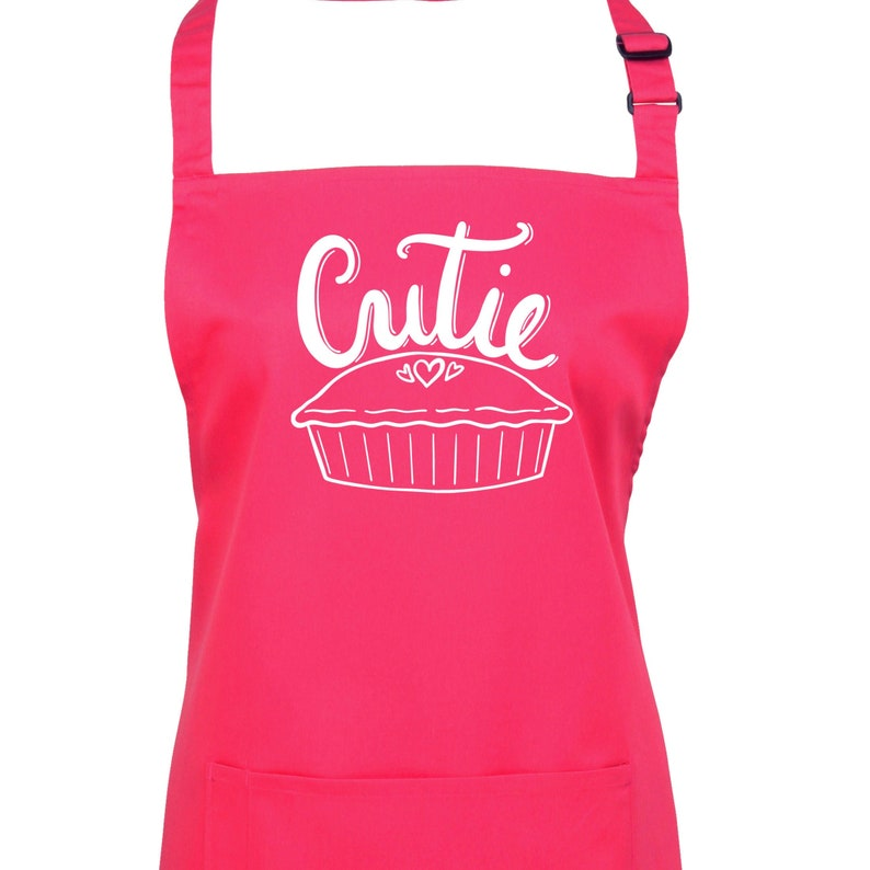 Cutie Pie Apron. Choice of 23 Colours and 15 Print Colours To image 0