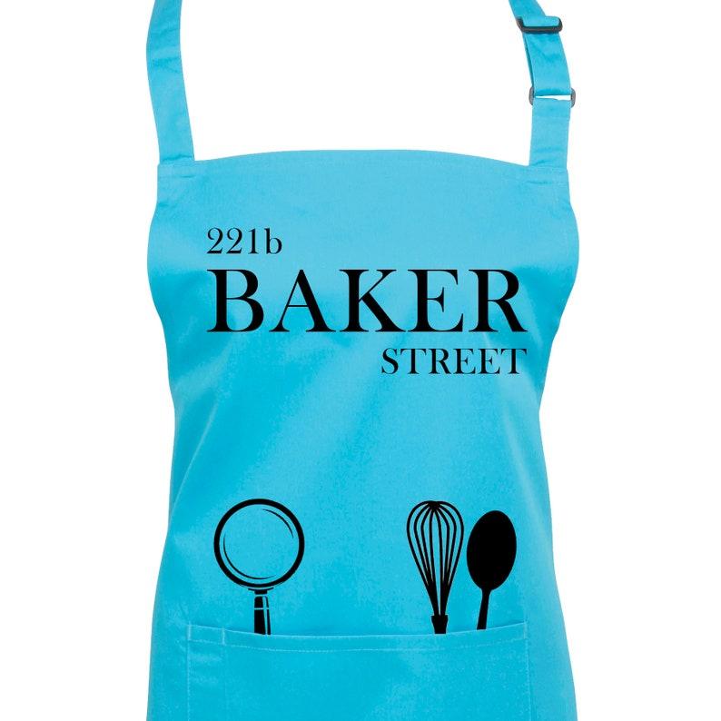 221b Baker Street Apron for Sherlock Holmes Fans 23 Colours image 0