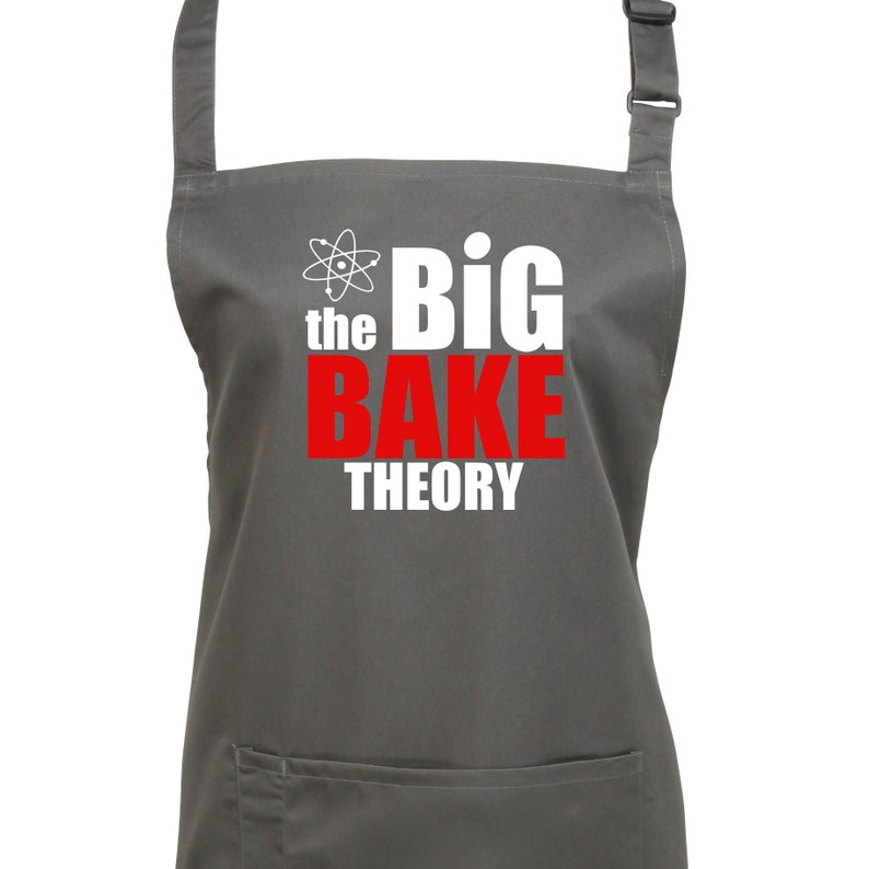 The Big Bake Theory Apron.7 Colours. Ref: 1183 image 0