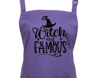 Witch and Famous Apron With Pocket/ Choice of 13 Colours  (Ref: 1293)