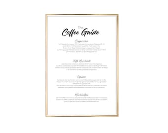 "Poster | Print | Art print ""The Coffee Guide"""