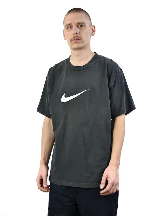 Vintage Nike Black Swoosh 90s T Shirt
