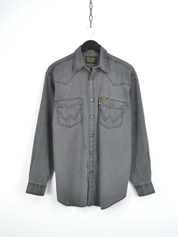 Vintage Wrangler Grey Denim Shirt