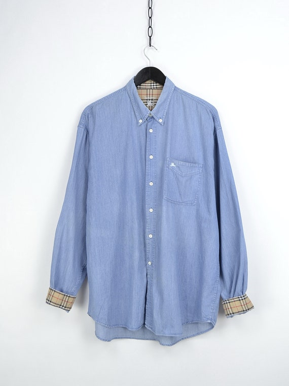 90s Vintage Burberrys Denim Shirt