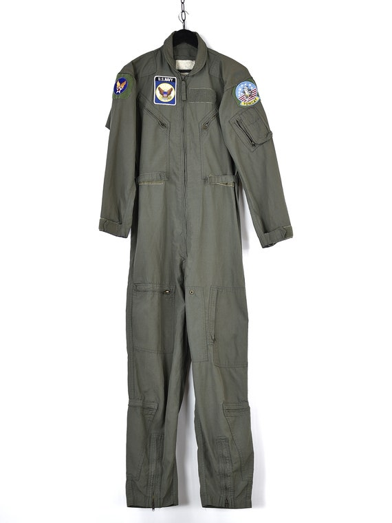 Vintage U.S Navy Army Overalls Jumpsuits - image 7