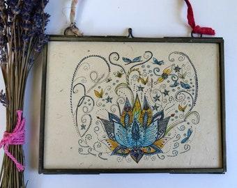 59d1a5ee82 Lotus Flower Art Print