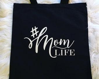 MomLife Reusable Tote, Reusable Tote,Canvas,Cotton,Fashion,Style,Shopping,Mom Life,Hashtags