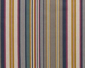 Striped Medium Weight Canvas  Fabric 80% Cotton