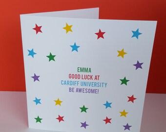 Stars Good Luck Card/ School Gollege/ University/New Job/Interview
