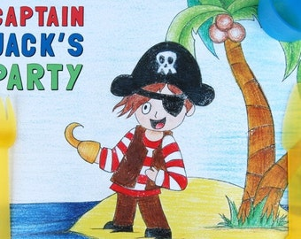 Pirate Paper Party Placemats