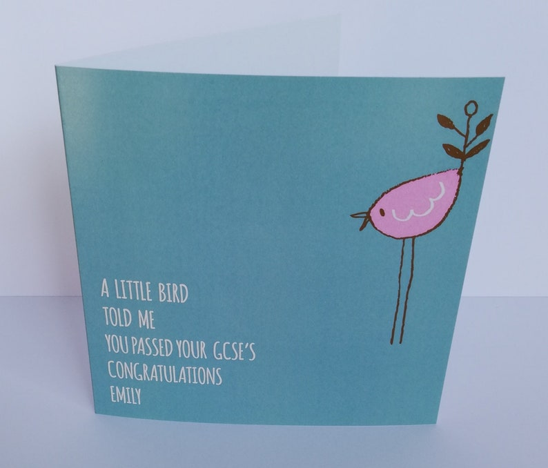 Personalised A Little Bird Told Me.... Card Congratulations image 0