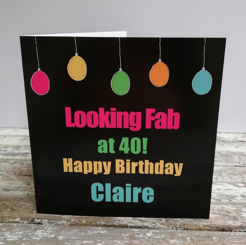 Black and multicoloured  Looking Fab Balloon Personalised image 0