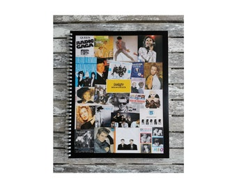 Personalised Retro 80's Bands Artists Notebook Smash Hits Wham Duran Duran Prince Michael Jackson Madonna Kylie Madness plus more