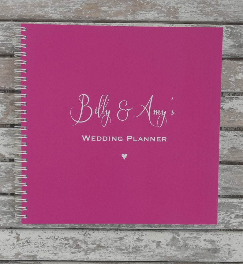 Personalised Names Design Wedding Planner Notebook Journal image 0