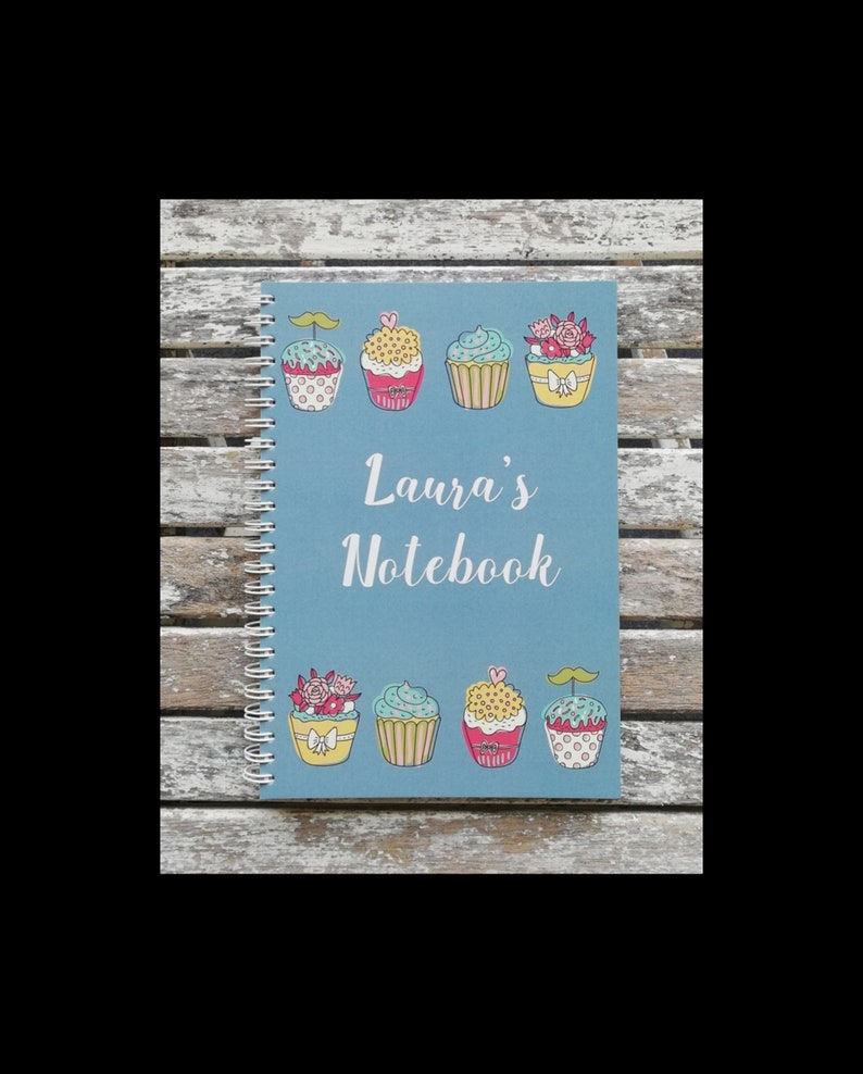 Personalised Cupcake design Notebook Notepad image 0