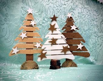 Ready to ship- Reclaimed Wood Christmas Tree,christmas decoration,holiday,Christmas tree with stars, original christmas tree